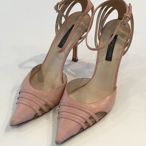 Sergio Rossi Pink Ankle Strap Heels Sz 8.5